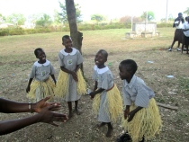 The children love to dance as a means of expression.